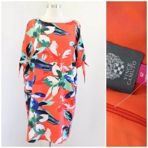 NWT Vince Camuto Floral Cutout Sleeve Shift Dress